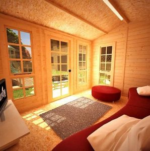 The Billyoh Pathfinder Huntsman Log Cabin 11X9 living space