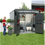 The Biohort Avantgarde XXL Shed in Metallic Silver