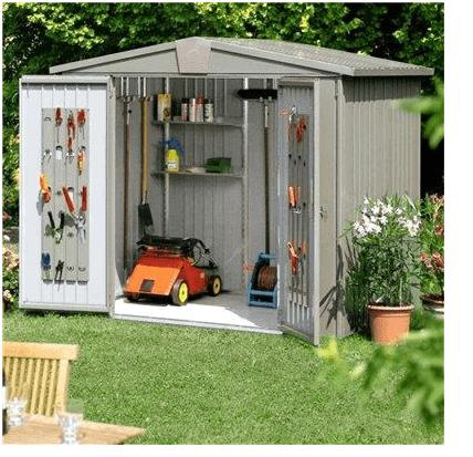 the biohort europa 3 metal shed in quartz grey what shed. Black Bedroom Furniture Sets. Home Design Ideas