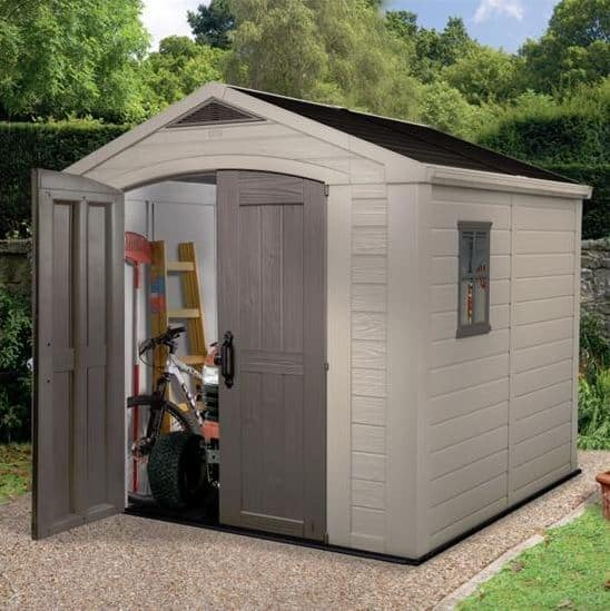 keter sheds the keter apollo plastic shed. Black Bedroom Furniture Sets. Home Design Ideas