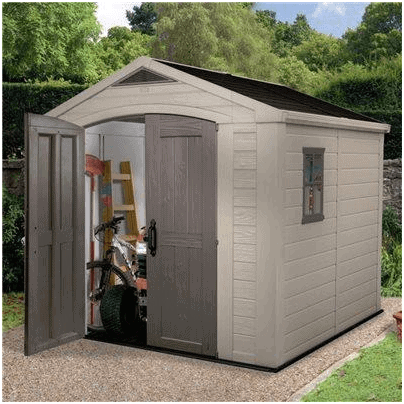 Resin Storage Sheds >> Keter Sheds - The Keter Apollo Plastic Shed