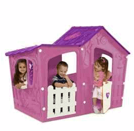 The Keter Magic Villa Pink and Purple Playhouse