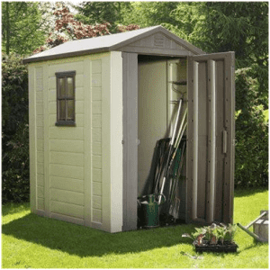 The keter plastic apex shed for Garden shed 4 u
