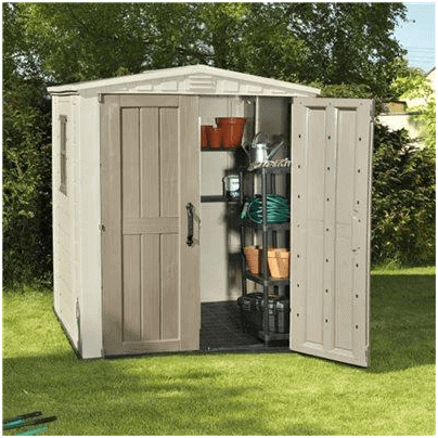 The Keter Plastic Gemini Shed