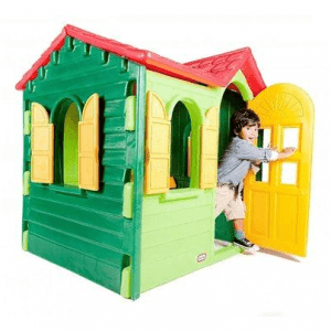 The Little Tikes Country Cottage Evergreen Plastic Playhouse