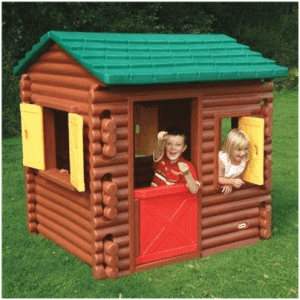 The Little Tikes Plastic Log Cabin Playhouse