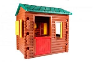 The Little Tikes Plastic Log Cabin Playhouse frount