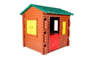 The Little Tikes Plastic Log Cabin Playhouse side