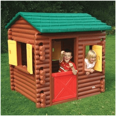 little tikes plastic log cabin playhouse