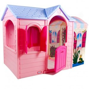The Little Tikes Princess Garden Plastic Playhouse side 2