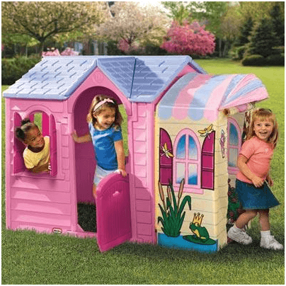 The Little Tikes Princess Garden Plastic Playhouse