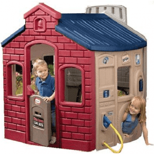 The Little Town Evergreen Plastic Playhouse