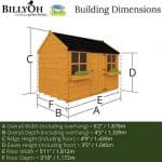 The Mad Dash 400 Gingerbread Playhouse 6 X 4 dimensions