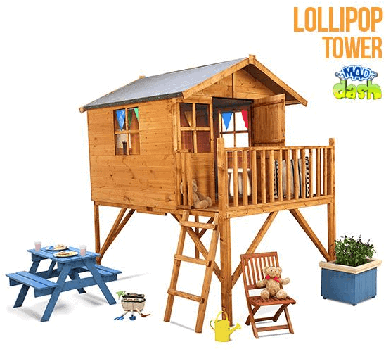 The Mad Dash 400 Lollipop Wooden Junior Tower Playhouse