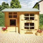 The Mad Dash Annex Log cabin Wooden Playhouse 10 X 8 X 8