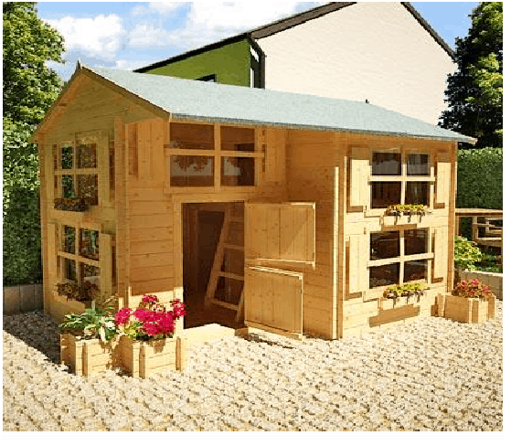 The Mad Dash Annex Log Cabin Wooden Playhouse What Shed