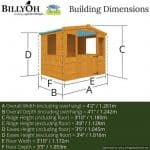 The Mad Dash Blueberry Wooden Playhouse Overall Dimensions