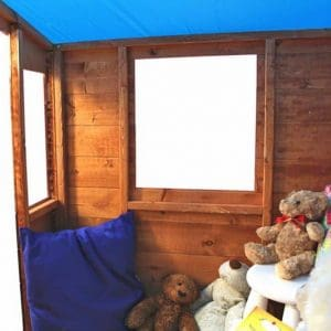 The Mad Dash Blueberry Wooden Playhouse internal