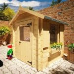 The Mad Dash Children's Wooden Log Cabin Playhouse 5 x 5 side