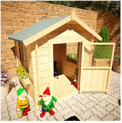 The Mad Dash Childrens Wooden Log Cabin Playhouse 5 X 5