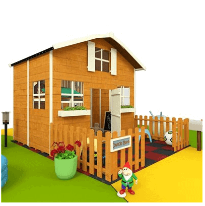 The Mad Dash Dutch Barn Wooden Playhouse