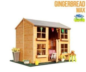 The Mad Dash Gingerbread Playhouse 7 X 5 without Fence
