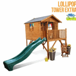 The Mad Dash Lollipop Junior Tower Extra Wooden Playhouse