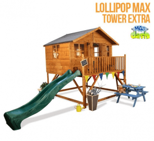 The Mad Dash Lollipop Max Tower Xtra Wooden Playhouse