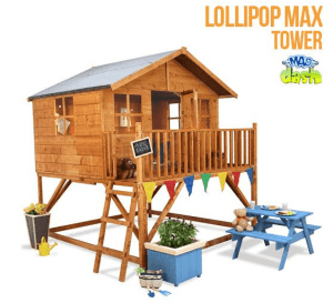 The Mad Dash Max Tower Lollipop Wooden Playhouse