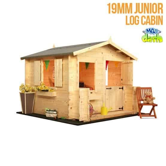 The Mad Dash Wooden Junior Log Cabin Playhouse