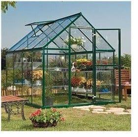 The Palram Green Harmony Metal Greenhouse