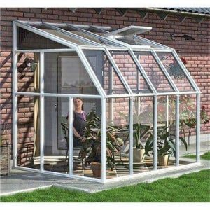 The Rion Sunroom Lean-To Greenhouse