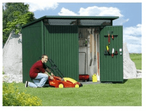 The Store More Avantgarde Large Heavy Duty Metal Shed in Dark Green