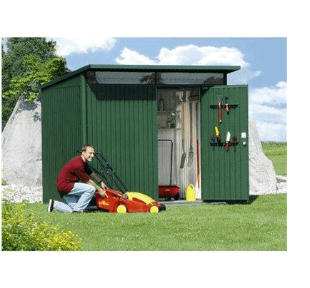 The Store More Avantgarde Large Heavy Duty Metal Shed in Dark Grey