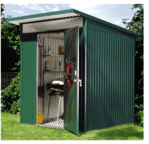 The Store More Avantgarde Medium Heavy Duty Metal Shed in Dark Grey