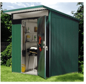 The Store More Avantgarde Medium Heavy Duty Metal Shed in Metallic Silver