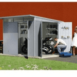 The Store More Trimetals Avantgarde XL Metal Garden Shed in Dark Grey