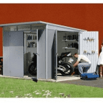 The Store More Trimetals Avantgarde XL Metal Garden Shed in Metallic Silver