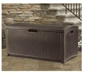 The Suncast Rattan Garden Storage Deck Box
