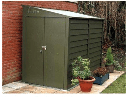 The trimetals titan 960 metal garden shed for Garden shed ventilation