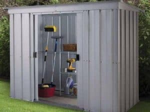 The Yardmaster 104PZ Pent Metal Shed 10 X 4