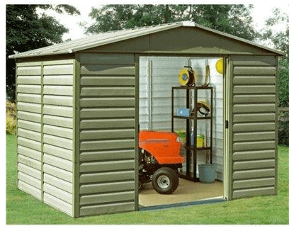 The Yardmaster 108 Shiplap Metal Garden Shed