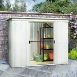 The Yardmaster 64pz Pent Metal Shed 6 X 4 Feature