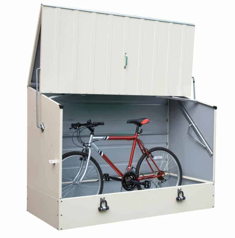 Trimetals High Security Metal Bike Shed In Cream What Shed