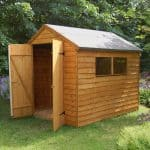 Overlap Double Door Wooden Shed