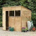 Pressure Treated Pent Shed
