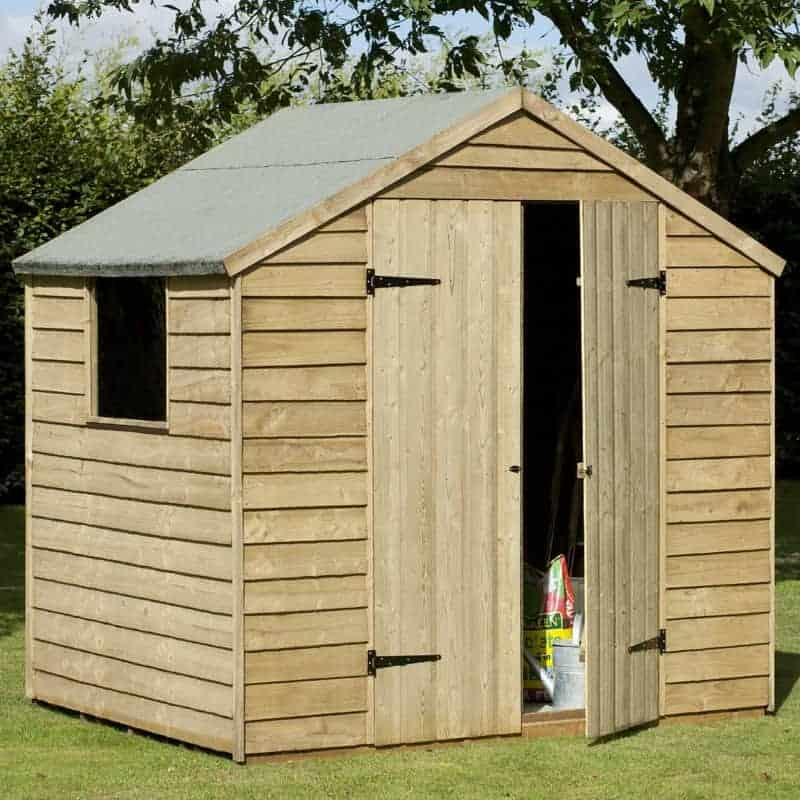 Larchlap large double door overlap wooden shed what shed for 12x8 shed with side door