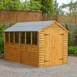 10 x 6 Doulbe Door Overlap Wooden Shed