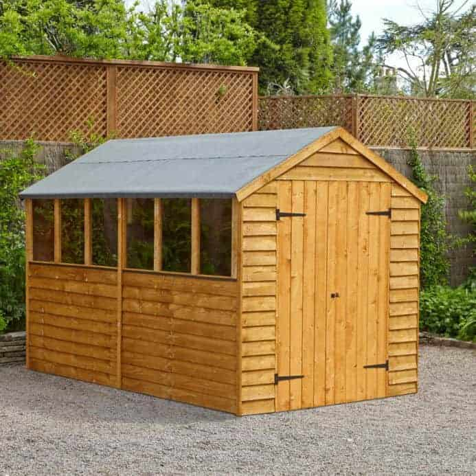 Larchlap Double Door Overlap Wooden Shed With 6 Windows What Shed