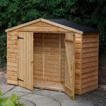 7X3 Overlap Apex Wooden Bike Store & Easy Fit Roof